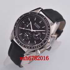 40mm BLIGER Black Dial multifunction Mechanical Automatic Mens Watch