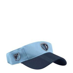Sporting Kansas City MLS Adidas Adjustable Strap Hat, Light blue