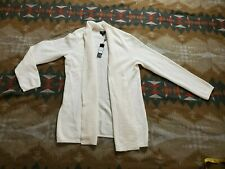 Talbots 2-Ply 100% Cashmere Knit Open Front Cardigan Sweater Petite Large