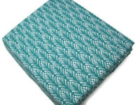 Pottery Barn Kids Aqua Green Multi Colors Feather Plumes Cotton Twin Sheet Set