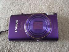 LikeNew Canon Powershot ELPH 360HS 20MP Digital Camera - Purple