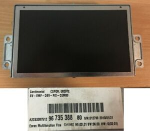 Citroen C3 C4 C5 Peugeot 407 807 Affichage LCD RNEG1 Navi 9673538880 A2C53387512