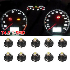 10x White T4 T4.2 Neo Wedge LED Bulb Cluster Instrument Dash Climate Base Lights