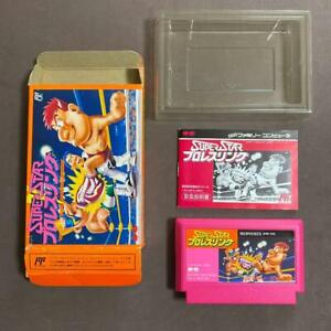 Superstar Pro Wrestling Famicom NES software with box theory Superstar Wrestling
