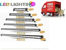 LED Single Row SLIM LIGHT BAR Spot Flood Combo Ranger Truck Jeep Car Van Tractor