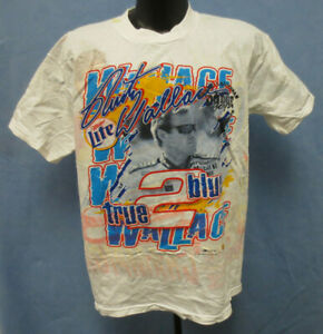 RON HORNADAY LARGE SHIRT VINTAGE RETRO 4 SIDED NASCAR MENS CHASE RUSTY WALLACE