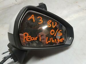 GENUINE 2012-2016 AUDI A3 S3 8V O/S DRIVER SIDE WING MIRROR SIDE MIRROR IN WHITE