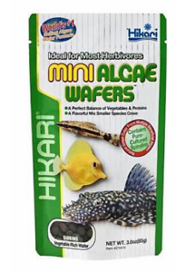 Hikari Mini Algae Wafers 85g Sinking Tropical Fish Food Pleco Catfish Bottom