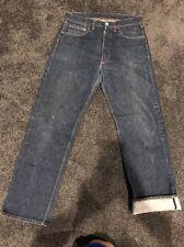 "1950s Vintage Levi's 501 Hidden Rivets ""Every Garment Guaranteed W30L32 VeryDark"