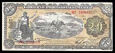Veracruz, Gobierno Prov. de Mexico 20 Pesos O/P YUCATAN. M3976h. VF