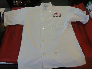 Uncommon Threads Bob Evan Taste of  Farm SM white chef cook restaurant uniform