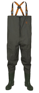 FOX NEW GREEN Lightweight Chest Carp Fishing Waders - All Sizes