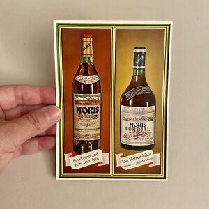 Werbung auf Postkarte ALT Noris Weinbrand Herren-Likör Nürnberg Lebensmittel
