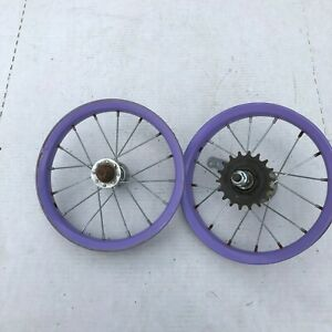 "Kids Bicycle set of rims 12.5"" x 2 1/2 color Light purple coaster brakes ."