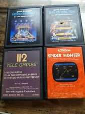 Vintage Atari 2600 3D TicTacToe Space Invaders Spider Fighter Video Pinball  Lot