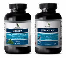 Parasite cleanse - SPIRULINA – ANTI PARASITE COMBO - spirulina green powder