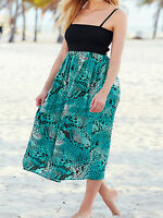 New Plus Size GREEN Animal Printed Smocked Maxi Dress Size 18