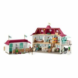 SCHLEICH HORSE CLUB 42416 LARGE HORSE STABLE WITH HOUSE AND STABLE (42416)