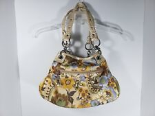 "Kathy Van Zeeland Purse Flower Print 13"" x 9"" Great Condition Pocket Book"