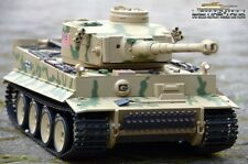 RC tanques 2.4 GHz tiger 1 camuflaje metal engranajes humo & Sound heng Long 1:16
