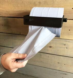 MegaMaxx Blue Roll Paper Towel Wall Mounted Industrial Garage Dispenser Holder