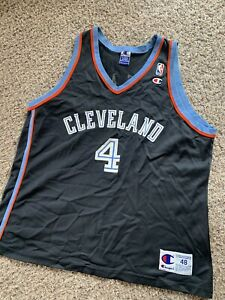 Rare Vintage Cleveland Cavaliers Shawn Kemp Cavs Champion 1997 Nba Jersey Sz 48