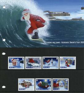 Alderney Christmas Stamps 2020 MNH Santa's Visit Santa Claus 7v Set Pres Pack