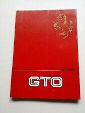 FERRARI 288 GTO OWNER'S MANUAL, ORIGINAL (345/85)