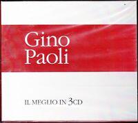 3 CD ♪ Box Cofanetto GINO PAOLI • IL MEGLIO • THE BEST • I SUCCESSI nuovo