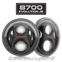 "JW Speaker 8700 J2 7"" Wrangler LED Scheinwerfer Schwarz Set +Einbausatz ECE NEU"