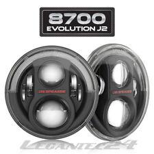 "JW Speaker 8700 j2 7"" Wrangler DEL Phares Noir Set + Kit ECE Nouveau"