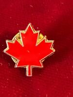Enamel Red Maple Leaf Canada Souvenir Tie Lapel Pin Vtg .50""