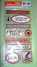 We R Memory Keepers  Halloween  layered chipboard words  for scrap booking