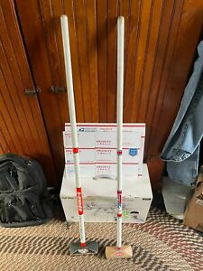 Vintage pair 8 Ender The Iceman Duchess Curling Brooms or curling brushes Decor
