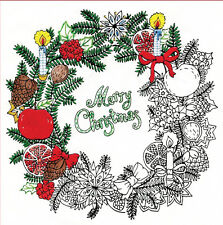 "Embroidery Kit ~ Design Works Zenbroidery Christmas Wreath 10"" x 10"" #DW4026"