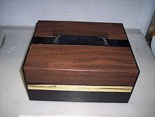 UNIQUE 2-SIDED 8 TRACK STORAGE CASE    **HOLDS 24 TAPES*   #17