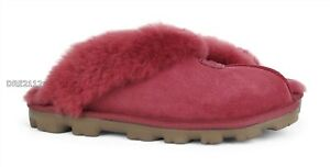 UGG Coquette Timeless Red Fur Slippers Womens Size 9 *NIB*