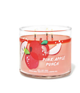 Pink Apple Punch 3-Wick Candle 14.5 oz / 411 g bath and body works