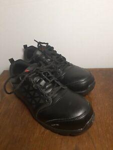 REEBOK Sublite Cushion Work Black Alloy Toe Athletic Work Shoe Mens 6.5 M