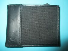 NEW* VOLCOM HYBRID WALLET ID BIFOLD $30 Retail SLIM FAUX LEATHER BLACK