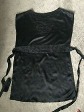 MANGO BLACK SILK DRESS SIZE XL