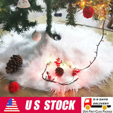 30 Inch onepicebest Christmas Tree Skirt Patriotic Stars Design Tree Skirt for Xmas Holiday Party Supplies Large Tree Mat Decor Ornaments