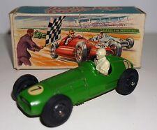 VINTAGE Crescent toys 1285 BRM MK 2 Grand Prix Auto Da Corsa 1956 Raro in Scatola Verde