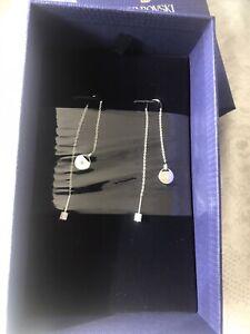 genuine swarovski Double drop earrings