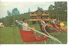 Postcard Elk Mountain Union Dale Pa Village of 4 Seasons Resort Uniondale sleigh