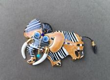 MWOB Cynthia Chuang Jewelry 10 Elephant Pin Brooch Movable Head