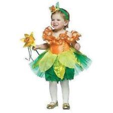 Daffodil Flower Girls Halloween Costume Dress Up Dress Wand Headband 12-24 month