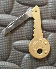 Key Shaped Folding Utility Knife for Your Keyring / Keychain - New