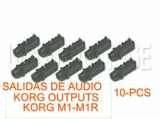 KORG M1-M1R-OUTPUTS 10-PIAZAS SALIDAS DE AUDIO  PLATINUM PLATED