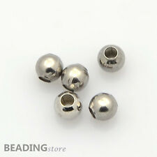 100pcs 316 Stainless Steel Spacer Beads Round Metal Beads 3mm Jewellery Findings